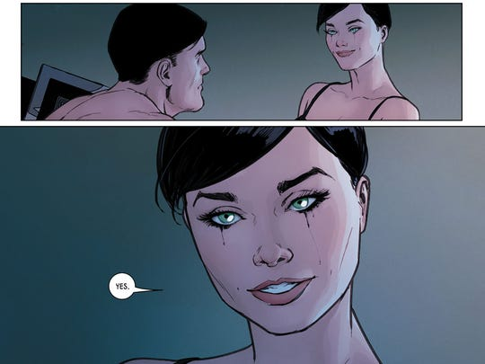 Catwoman gives Batman the long-awaited answer to his wedding proposal.