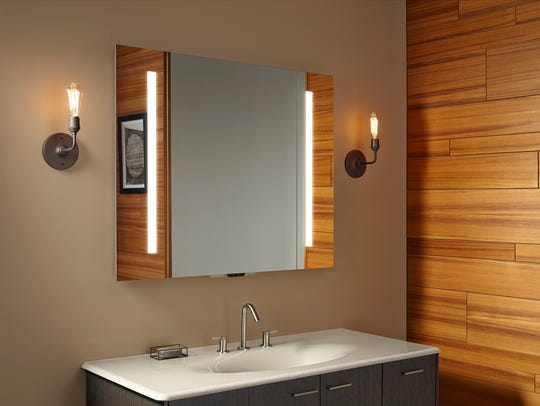 The Kohler Verdera Voice Lighted mirror features Amazon