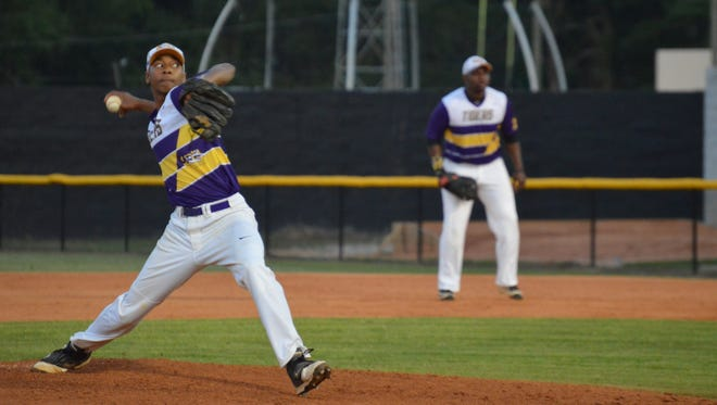Hattiesburg pitcher Orrien Bailey pitches on Friday during the Tigers' game against South Jones in Hattiesburg.