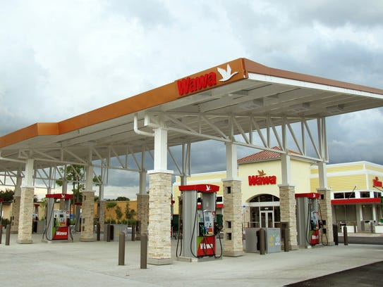 The first Wawa convenience store and gas station in
