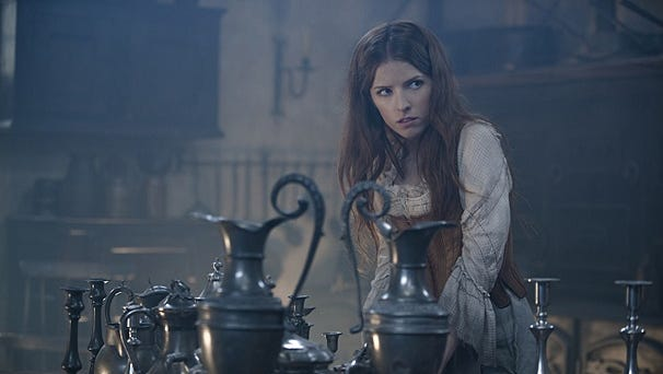 """Anna Kendrick as Cinderella in a scene from """"Into the Woods,"""" Disney's upcoming movie of the Stephen Sondheim musical."""