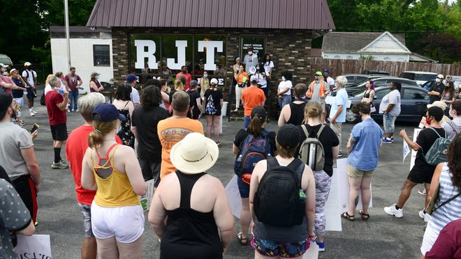 A Black Lives Matter gun violence prevention event will be held at RJT & More Detail Shop in Alabama City on Friday. The business is shown here before a March on June 7.