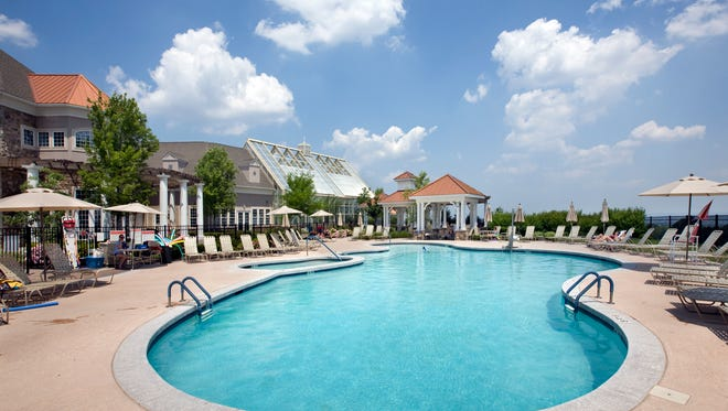Residents of K. Hovnanian's Four Seasons at Great Notch Club and Spa enjoy a clubhouse and both indoor and outdoor swimming pools.