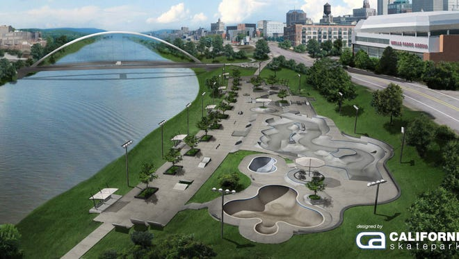 Rendering of the planned Des Moines Regional Skatepark.
