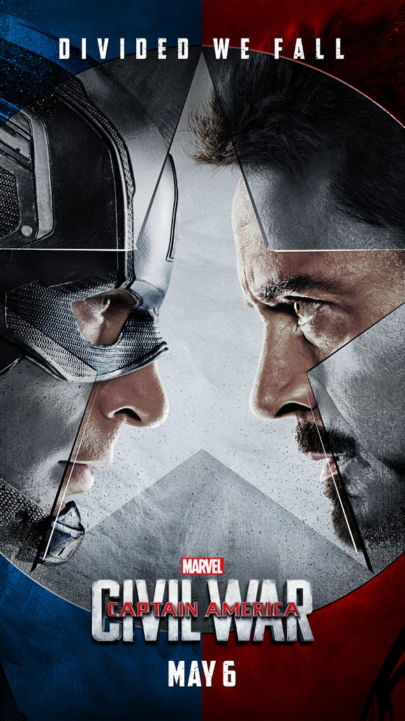 Cap vs. Iron Man. May 6. Be there.