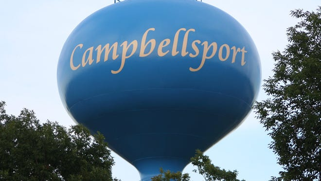 Campbellsport water tower.