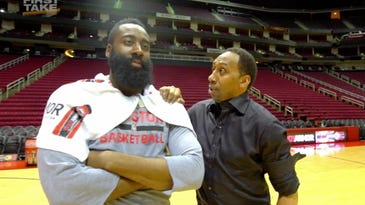 Harden laughs as Stephen A. Smith bricks jumpers
