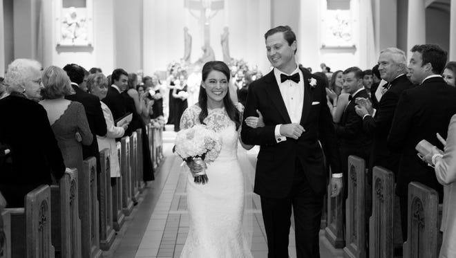 Mary Brette Clippard and Cook Wylly married at the Cathedral of the Incarnation on West End.