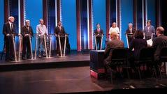 Democratic candidates for governor (fom left) Tony