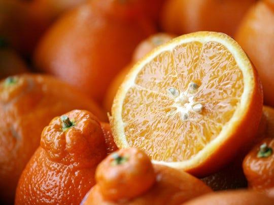 8. Oranges, including tangerines: Florida and California
