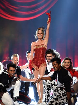 Jennifer Nettles performs at the CMA Country Christmas at the Opry House Tuesday Nov. 8, 2016, in Nashville, Tenn.