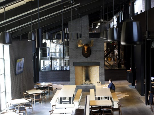 The new Hinterland Brewery located in the Green Bay Packers' Titletown District will feature a brewery, taproom, restaurant, two private dining rooms and a heated, outdoor beer garden. March 31, 2017.