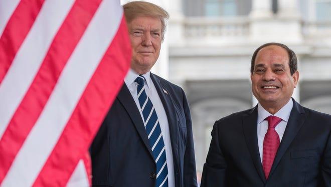 President Trump and Egyptian President Abdel Fattah al-Sisi on April 3, 2017.
