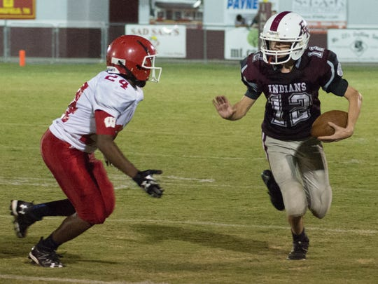 Westmoreland Middle's Levi Harless (24) closes in on