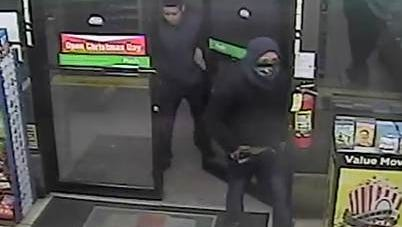 Two men on Christmas morning tried to rob the 7-Eleven on North Copia Street by Gateway West Boulevard.