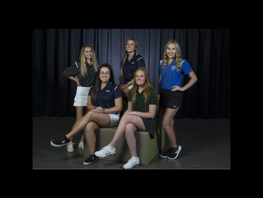2018 All-Shore Girls Golf Team- Front sitting: Michaila