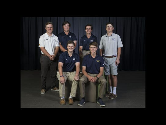 2018 All-Shore Boys Golf Team- Front, sitting: Jack
