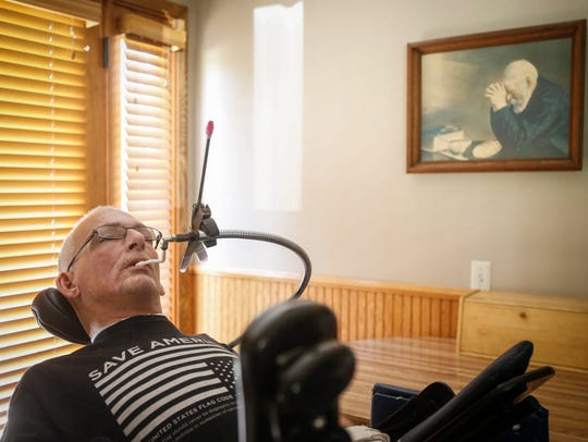 Jamie Campbell was paralyzed from the neck down after suffering an injury in high school. He has twice successfully objected after Medicaid managed-care company UnitedHealthcare tried to slash the number of hours it would cover for his in-home aides.