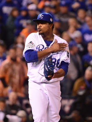 Edinson Volquez did not get the decision in Game 1.