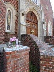 The exterior of the closed Sacred Heart of Jesus church