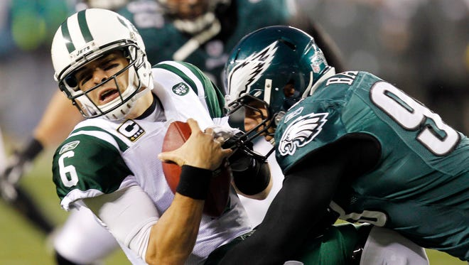 Mark Sanchez is trading Jets green for Eagles green.