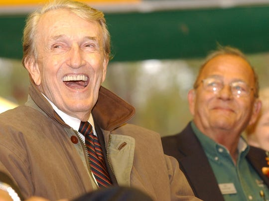 Jim Gaston had the great hall in the Vada Sheid Community Development Center named after his dear friend Dale Bumpers, left, the former Arkansas governor and U.S. senator.