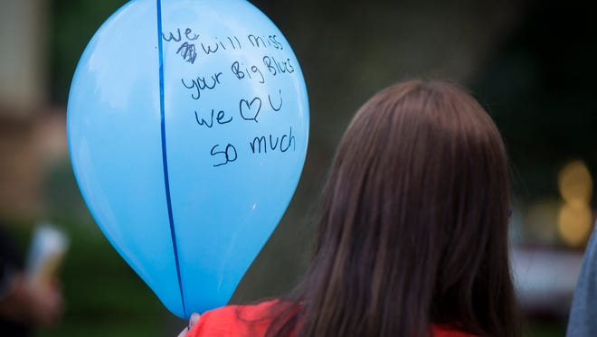 Message balloons were released and a candlelight vigil was held  July 24 for Mason Wyckoff in Grimes. The 2-year-old was found dead July 22.