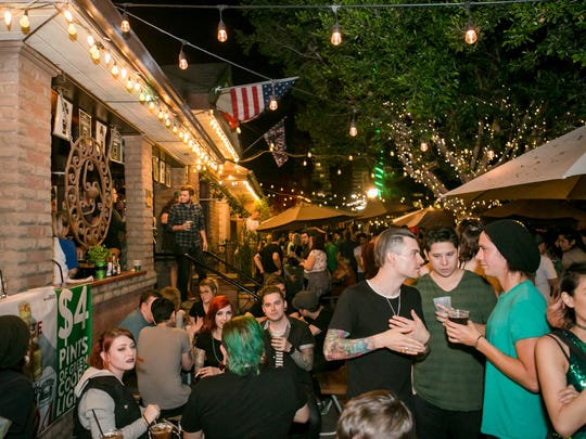 The patio was crowded during the St. Patrick's Day