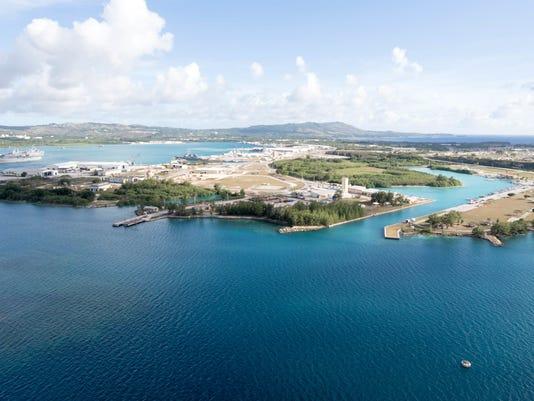 Naval Base Guam Aerial