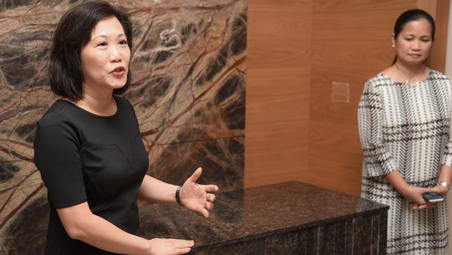 Sophia Chu Wigsten, Hyatt Regency Guam general manager and the chair of the Guam Hotel and Restaurant Association, is shown in this Dec. 15, 2016, file photo.