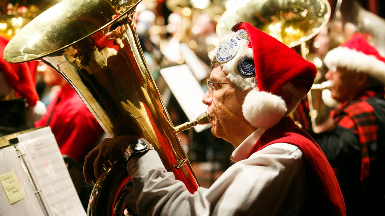The Historic Elsinore Theatre was filled with the sounds of tubas of all shapes and sizes on Sunday as the Salem Concert Band's annual Tuba Holiday show took place.