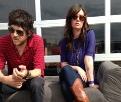 Kate Taylor and Taylor Hollingsworth from the band Dead Fingers.