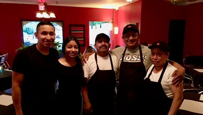 Owners and family at the new Casa Rios Grill in east Redding.