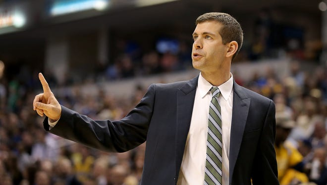 FILE – Brad Stevens has led the Celtics to 88 wins combined over the past two seasons.