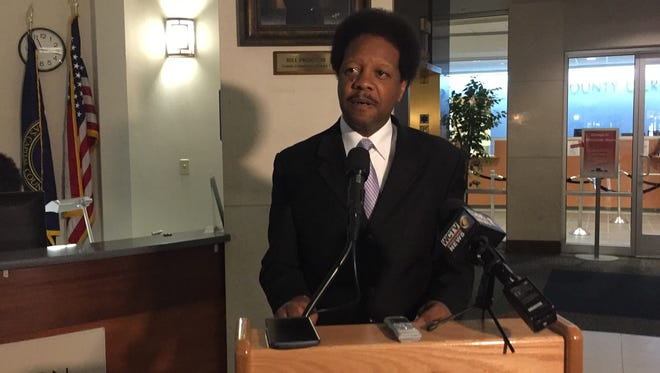 Leon County Commissioner Bill Proctor at a news conference on Tuesday in which he proposed less  harsh penalties for those caught with marijuana.