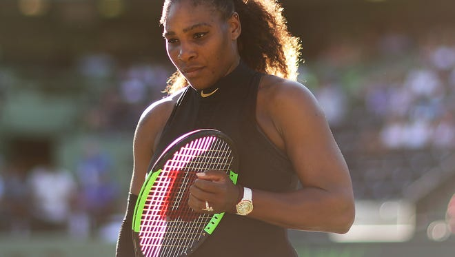 Serena Williams during a match in March.