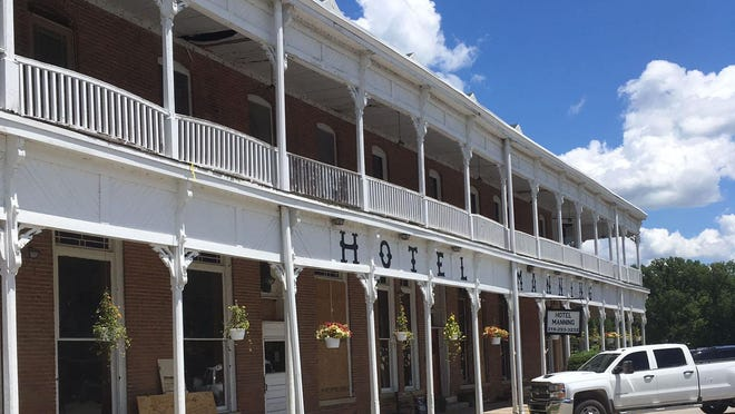 The Hotel Manning is shown June 24 in Keosauqua on the banks of the Des Moines River. The a historic hotel's Steamboat Gothic architecture mimics riverboats of the mid-1800s.