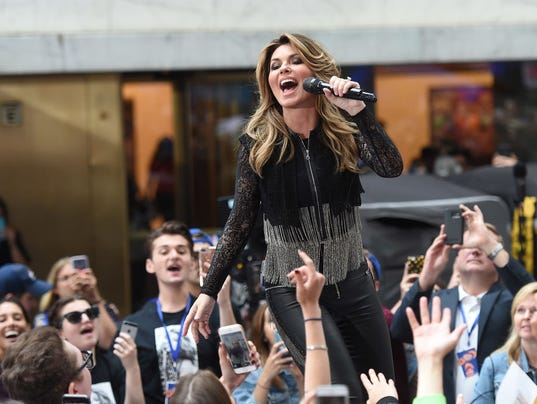 "Shania Twain Performs On NBC's ""Today"""