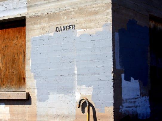 A photograph taken by Mattie Kannard, near the railroad
