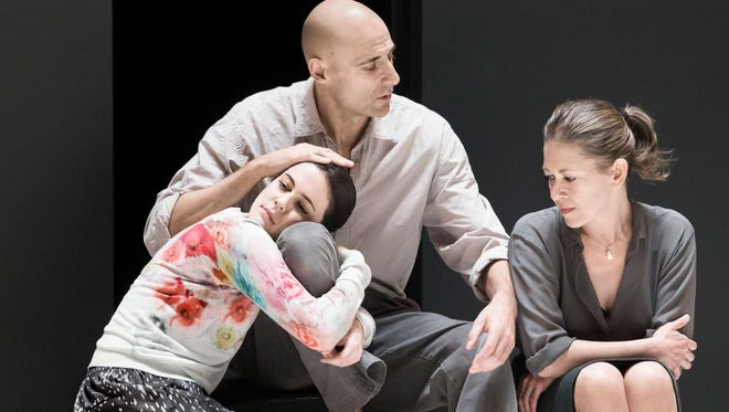 Phoebe Fox, Mark Strong and Nicola Walker play a troubled family in the new Broadway revival of 'A View From the Bridge.'