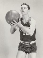 Three-time University of Kentucky All-American Ralph Beard played for a U.S. Army team in Japan during the 1950s.