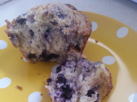 Blueberry muffins from Dozen Bakery.