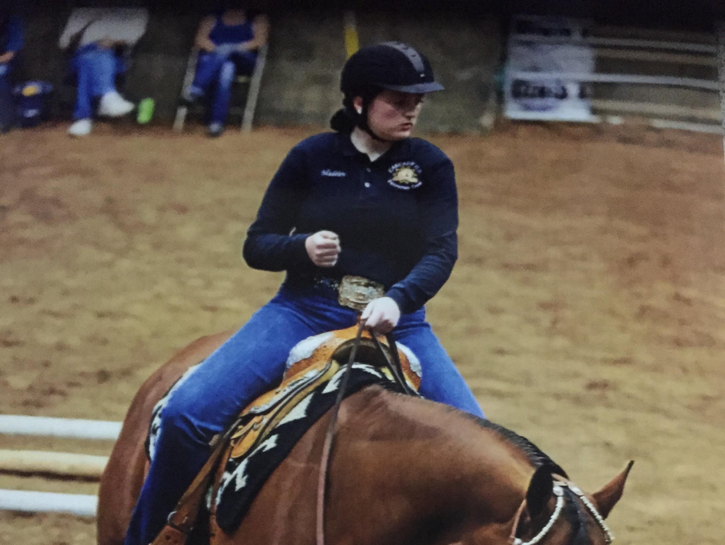 Cascade's Madelen Dewar competes at the OHSET State Championship Meet.