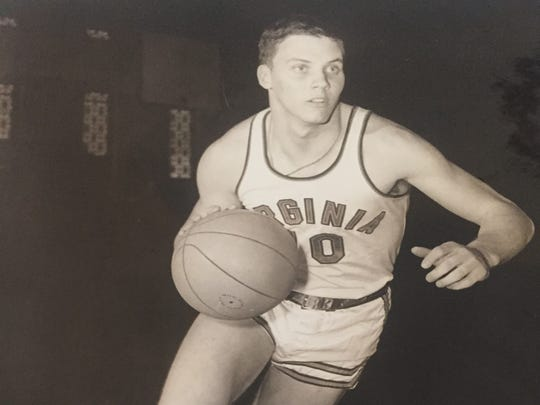 Neptune's Bob Davis shown during his one season playing basketball at Virginia in 1964, before he turned his full attention to playing football for the Cavaliers.