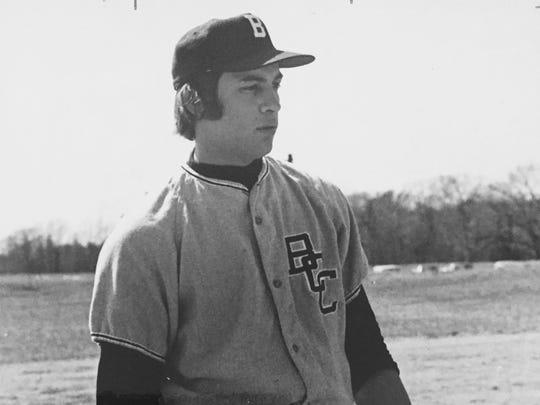 Middletown's John Montefusco, shown in a Brookdale Community College uniform in 1972.