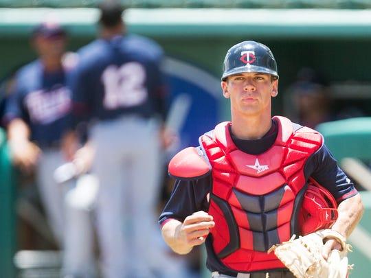 Gulf Coast League Red Sox catcher Ben Rortvedt takes