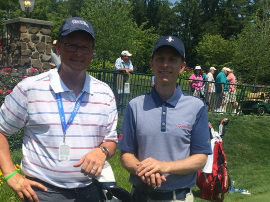 Brian Gaffney (right), the former head pro at Rumson