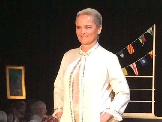 Shari Belafonte, a former supermodel, walks the runway Friday.