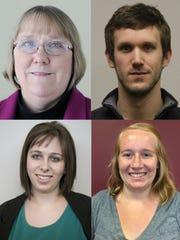 Clockwise from top left: Karen Madden, Chris Mueller, Megan McCormick, Sari Lesk