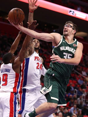 Bucks forward Mirza Teletovic will be sidelined with blood clots in his lungs.